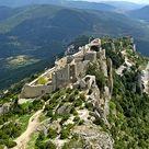 Peyrepertuse Cathar Castle, Aude, Pyrénées, France