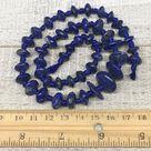 44.2g,8mm-17mm, 46 beads, Lapis Lazuli Saucer Disc Shape Beads Strand, LpB658 - Blue