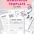 Free Newspaper Template For Kids / Kids Activities
