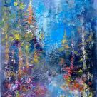 Original Landscape Painting by Konrad Biro   Fine Art Art on Canvas   Magic forest