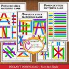 Popsicle Stick Patterns Busy Bag - Printable PDF - INSTANT DOWNLOAD - Preschool - Kindergarten - Montessori
