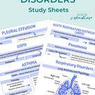 Respiratory Disorders study guide  Nursing student study   Etsy