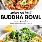 Red Lentil Quinoa Bowl