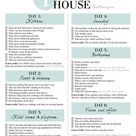 1 week schedule to a clean and organized house
