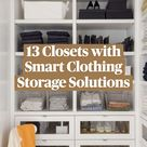 13 Closets with Smart Clothing Storage Solutions