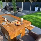 Garden Fire Pit Table. Outdoor Patio Heater Dining Table.