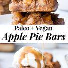 Apple Pie Bars {Paleo, Vegan}