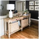 decorate sofa table behind couch