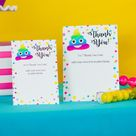 Emoji Party Pooper Thank You Card   Emoji Party Thank You Card    INSTANT DOWNLOAD    Printable Emoji Thank You Card by Printable Studio