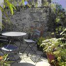 Small sunny courtyard garden