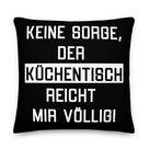 Küchentisch - Kissen - 30 x 30 cm / Schwarz