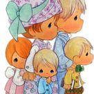 La Familia Precious Moments Imágenes para diseño XL   Tarjetas Cards   art collection Art Illustration