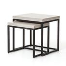MAXIMUS NESTING SIDE TABLES-NATURAL CONCRETE