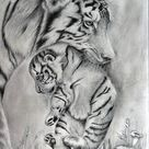 Mother's Love Drawing by sushant sinha