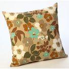 HRH Designs Floral Outdoor Throw Pillow blue/Brown/Green 20.0 x 20.0 x 6.0 in   Wayfair Canada