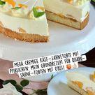 Mega cremige Käse-Sahnetorte mit Pfirsichen: Grundrezept für Quark-Sahne-Torten mit Obst! 🍑👌