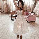 Wild Stars Ombre Midi Wedding Dress by Boom Blush. Sparkly | Etsy