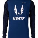 Nike USATF Men's Element Long Sleeve Crew Tee - Small