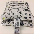 Handmade Lavender Sachets - Monochrome Animal Lavender Bags - Black and White Lavender bags. Lavender pillow, - 100% natural - set of 2.