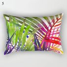Decorative Throw Pillows Tropical plants Pillow Cover 30x50 Polyester Cushion Cover Decoration Pillowcase Cushions Home Decor - Yellow / China