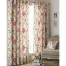 Riva Home Rosemoor Eyelet Curtains (Fuchsia) (90x72in)