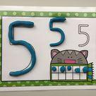Zahlenmatten für Knete – Klassenkunst