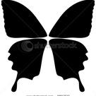 Template Butterflys Wings Stock Illustration 48817573
