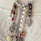 Elegant Strands Vintage Necklace Antique Jewelry Rosary | Etsy