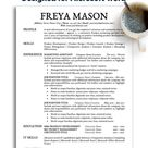One Page Resume Templates for Microsoft Word - Clean Resume Layout and Resume Design