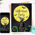Halloween Party Invitation Printable Invitation Digital | Etsy