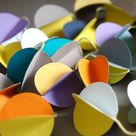 Paper Garland   Multicolored   3D balls   Decor for Christmas, wedding, party, nursery