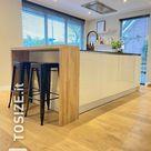 Mobile bar in rovere massello per isola cucina, di Jeroen