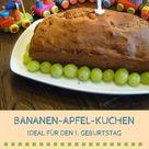 Kuchen zum ersten Geburtstag: Bananen-Rezept ohne Zucker