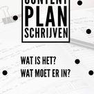 Super handig content plan voor je blog