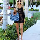 15.95US $  Fashion 2019 Summer Women Sexy Lace Beach Dress Casual V Neck Batwing Sleeve Loose Dress Cape Cover Solid Short Dress Dresses      AliExpress