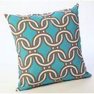 HRH Designs Outdoor Throw Pillow Brown 20.0 x 20.0 x 6.0 in   Wayfair Canada