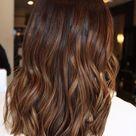 Warm Brown Brunette Human Hair Wig / Lace Front Wig / Wavy Ombré Auburn Bob Wig