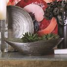 Global Views Ceramic Decorative Bowl in Spun Bronze