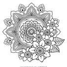 Motif circulaire en mandala avec fleur: image vectorielle de stock (libre de droits) 1196255110