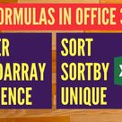 We are going to have some fun with the latest Office 365 Excel Formulas We have you covered on the following ? FILTER ? RANDARRAY ? SEQUENCE ? SORT ? SORTBY ? UNIQUE  MsExcel MyExcelOnline Formula