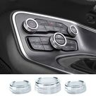 JKCOVER Button Knobs Cover Compatible with Dodge Challenger/Charger 2015-2020 2021 - Silver