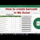 How to generate barcode in Ms Excel With barcode font   Excel Tutorials