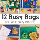 12 Busy Bags for Toddlers - Little Lifelong Learners