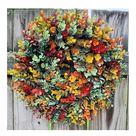 Fall Eucalyptus Farmhouse Wreath Front Door Hanging Ornament For All Seasons Autumn Decoration 18 Default title