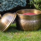 Brass Key West Hose Pot with Lid -  by Good Directions