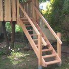 Holztreppe selber bauen für Garten und Terrasse