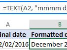 Excel TEXT function with formula examples