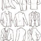 Anzug - Mode und Outfits skizzieren