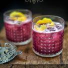 Blueberry Gin Sour cocktail   Supergolden Bakes