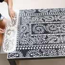 How To: Upgrade an Ikea Lack Table With an Easy-To-Use Inlay Stencil
